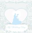 Ballroom wedding couple dancers - invitation card vector