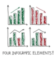 Set of our infographic elements vector