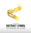 Abstract premium gold and spiral logo symbol vector