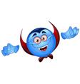 Vampire emoticon vector