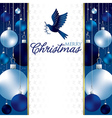 Christmas baubles invitation card in format vector