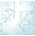 Architectural plan background vector