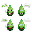 Eco drop vector
