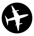 Plane button vector