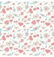 Sweet pastel valentine pattern vector