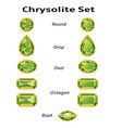 Chrysolite set with text vector