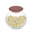 Jar of dried peppercorns on white background vector
