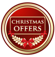 Christmas offers gold emblem vector