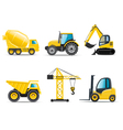 Construction machines vector