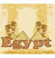 Vintage frame with pyramids giza vector