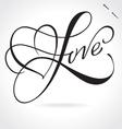 Love hand lettering vector