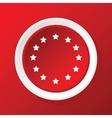 Eu symbol icon on red vector