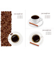 Coffee and beans background vector
