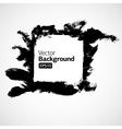 Ink grunge hand drawn frame vector