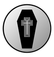 Coffin button vector