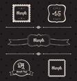 Blackboard frames and design elements vector