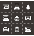 Car wash icons set vector