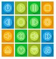 Media player icon setflat design vector