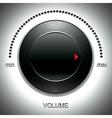 Big black volume knob vector