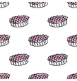 Seamless pattern with doodle pies vector