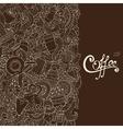 Coffee sketch notebook doodles vector