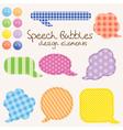 Speech bubbles design vector