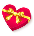 Valentines day 3d heart gift box vector