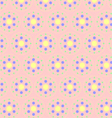 Circle clasper pattern on pastel color vector