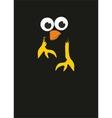 Comic cartoon bird in the night vector