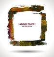 Trendy grunge frame vector