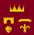 Design of heraldic symbols and elements vector