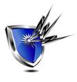 Silver shield lightning vector