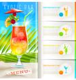 Tropical beach bar menu vector