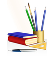 Educational books vector