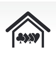 Poker house concept vector