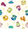 Seamless pattern with colorful funny figures vector