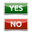Yes - no color board with shadow on white vector