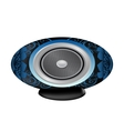 Black and blue audio speaker vector