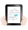 Digital tablet pc vector