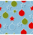 Retro christmas pattern vector