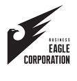 Eagle corporation - logo sign vector