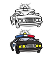 Police car coloring book vector