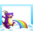 A dragon near the rainbow in front of the empty vector