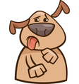 Dog expressing yuck cartoon vector