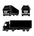 Silhouette truck icon vector