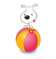Dog ball vector
