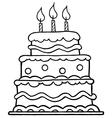 Birthday cake cartoon vector