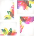 Abstract flower cards vector