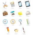 15icon for office stationery vector