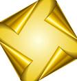 Golden page corners vector